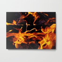 Fire Forms Metal Print