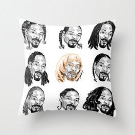 Snoop Dogg Hair Throw Pillow