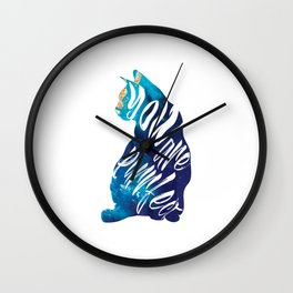 You Are Purrfect Cute Cat Quote Wall Clock