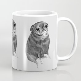 Sweet Black Pug Coffee Mug