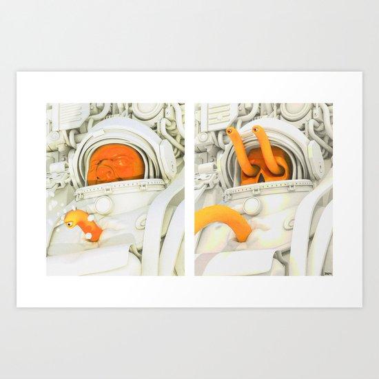 Burster Time-Lapse Art Print