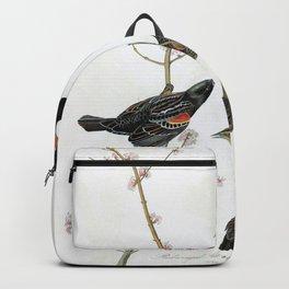 Red-winged Starling Or Marsh Blackbird - John James Audubon Backpack