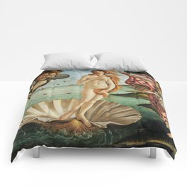 The Birth of Venus by Sandro Botticelli, 1445 Comforters