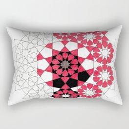 Pentagonal Rosett Rectangular Pillow