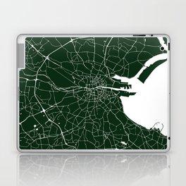 Dublin Ireland Green on White Street Map Laptop & iPad Skin