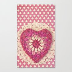 Crochet Valentine Canvas Print