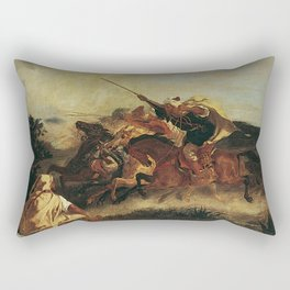 "Eugène Delacroix ""Fantasia Arabe"" Rectangular Pillow"