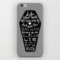 zappa iPhone & iPod Skins featuring Life asked death... by Picomodi