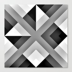 Monochrome Gradient Abstract Canvas Print