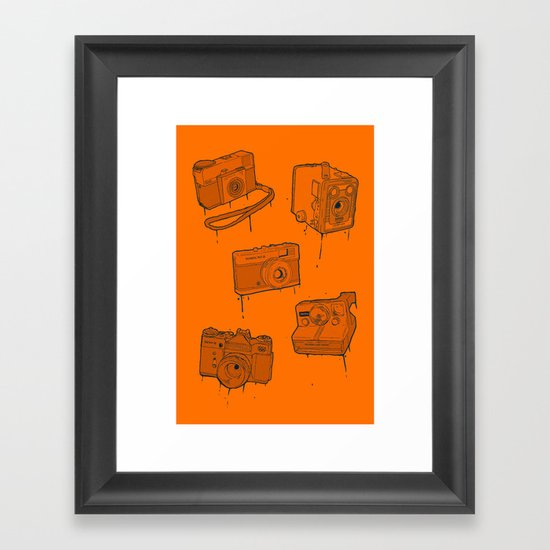 CAMERA SET Framed Art Print