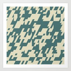 Diagonal Mash Up 1 Art Print