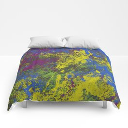 Clouded Judgement - Abstract Modern Painting Comforters