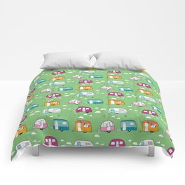Happy Campers version 2 Comforters