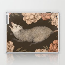 The Opossum and Peonies Laptop & iPad Skin