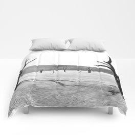 deadvlei desert trees acrbw Comforters