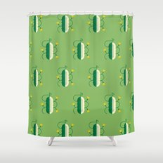 Vegetable: Cucumber Shower Curtain