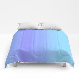 Blue & Violet Pastel Stripes   Cute ombre gradient pattern Comforters