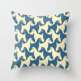 Dog Pattern | Schnauzer | M. C. Escher Inspired Artwork by Tessellation Art Throw Pillow