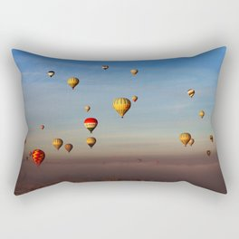 Fairytale dreams of hot air balloons Rectangular Pillow