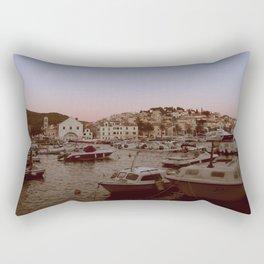 Croatian Harbour Rectangular Pillow