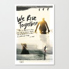 We Rise Together - Official Poster Canvas Print