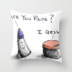 Silly Paint Throw Pillow