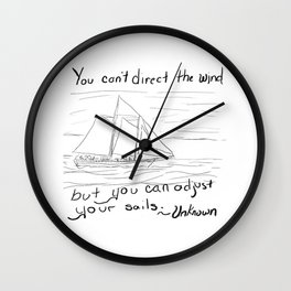 Adjust Your Sails Wall Clock