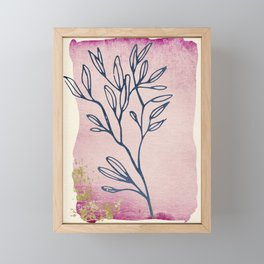 Floral Dream Series - Watercolor, Ink & Gold Framed Mini Art Print