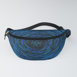 Spinning blue waves Fanny Pack