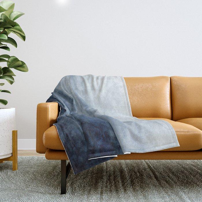 Indigo Abstract Painting | No.2 Throw Blanket