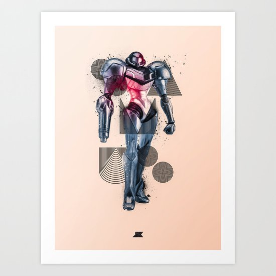 Heroes and Villains Series 2: Samus Art Print