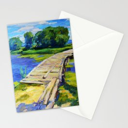 Wooden bridge Stationery Cards