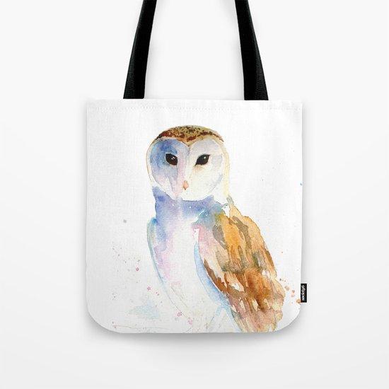Evening Barn Owl Tote Bag