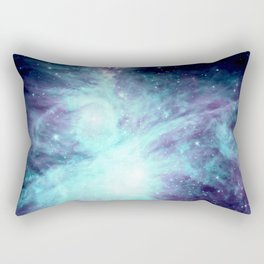 Orion Nebula Violet Aqua Teal Rectangular Pillow