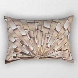 Art Deco Weathered Copper I Rectangular Pillow