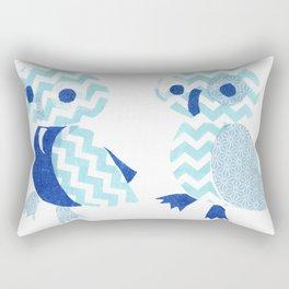 Two Owls  Rectangular Pillow