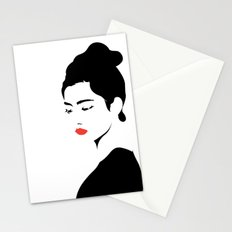 A girl Stationery Cards