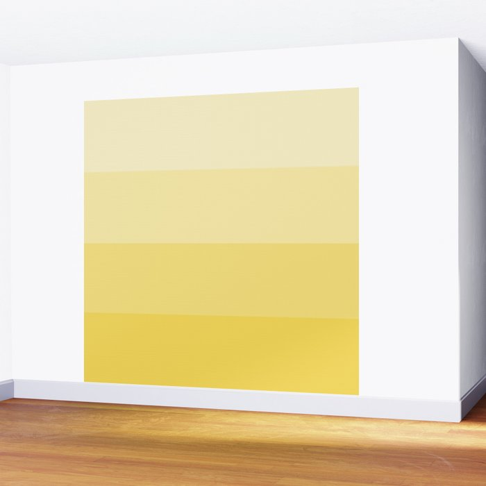 Four Shades of Yellow Wall Mural
