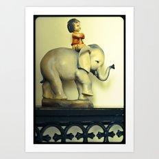 Elephant Boy Art Print