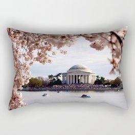 Cherry Blossoms of DC Rectangular Pillow