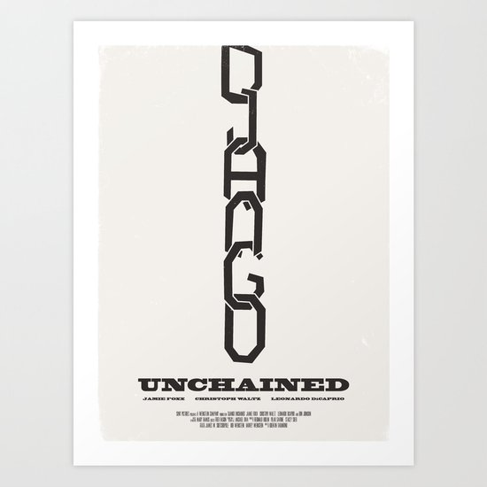 Django Unchained Movie Poster Art Print