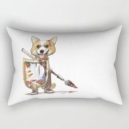 Corgi Barbare Rectangular Pillow