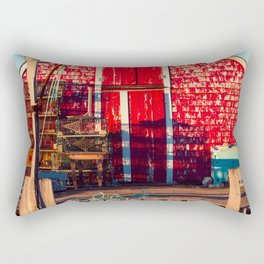 End of Day at Blue Rocks Rectangular Pillow