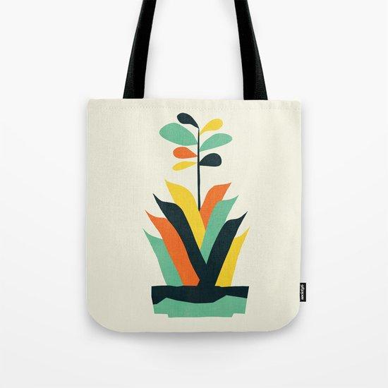 Exotic geometric plant Tote Bag
