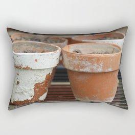 Flower Pots with Texture Rectangular Pillow