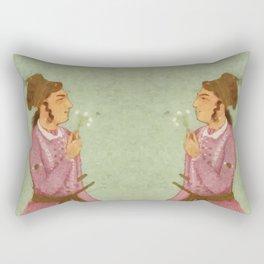 Akbar - Mughal Emperor Folk Hero Rectangular Pillow