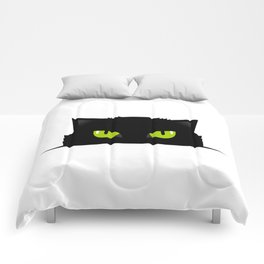 Black cat follow you #society6 #decor #buyart #artprint Comforters