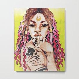 Illustration of Lucky Metal Print