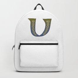 Celtic Knotwork Alphabet - Letter V Backpack