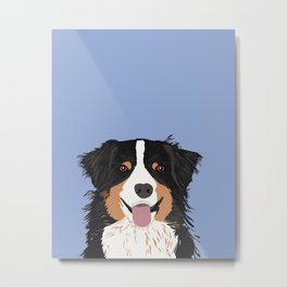 Australian Shepherd cute pastel aussie owner gifts must haves for dog person customized pet portrait Metal Print